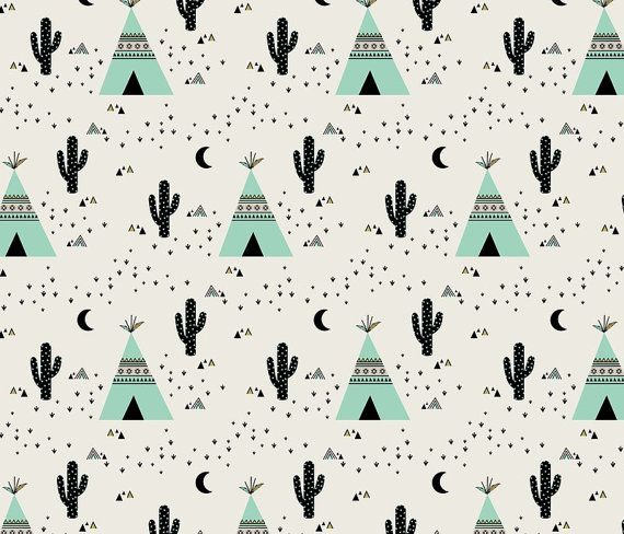 Toddler duvet cover in mint teepee toddler by lovemaedesigns