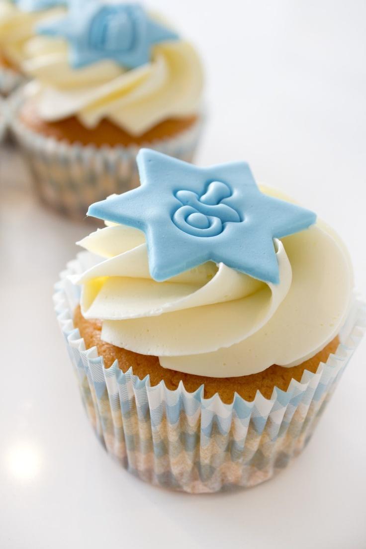 Cupcakes babyshower jongen