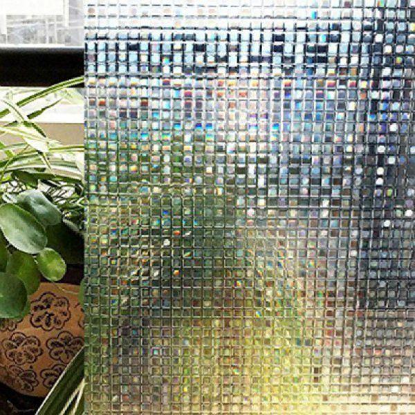 Amazon.co.jp: ガラスシート 目隠し モザイクタイルシール 3D窓用フィルム 浴室 目隠しシート ベランダ ガラスフィルム 断熱 再利用可能 紫外線カット 45*150cm: DIY・工具