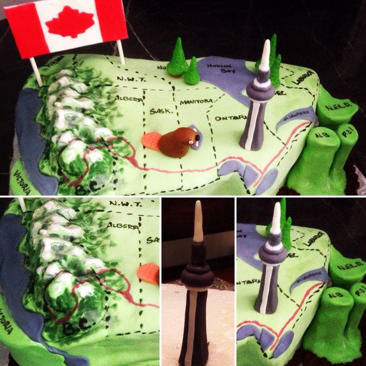 Map Of Canada Cake! I forgot Nova Scotia by accident