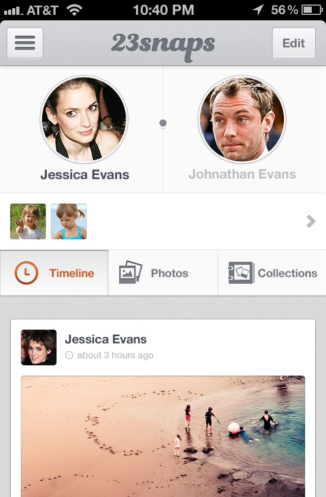 #Flat #iPhone app #UI for 23snaps