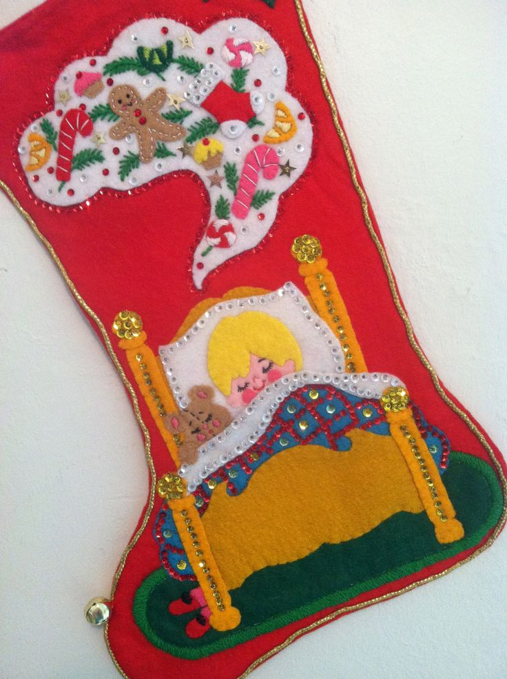 Vintage Bucilla Christmas Stocking
