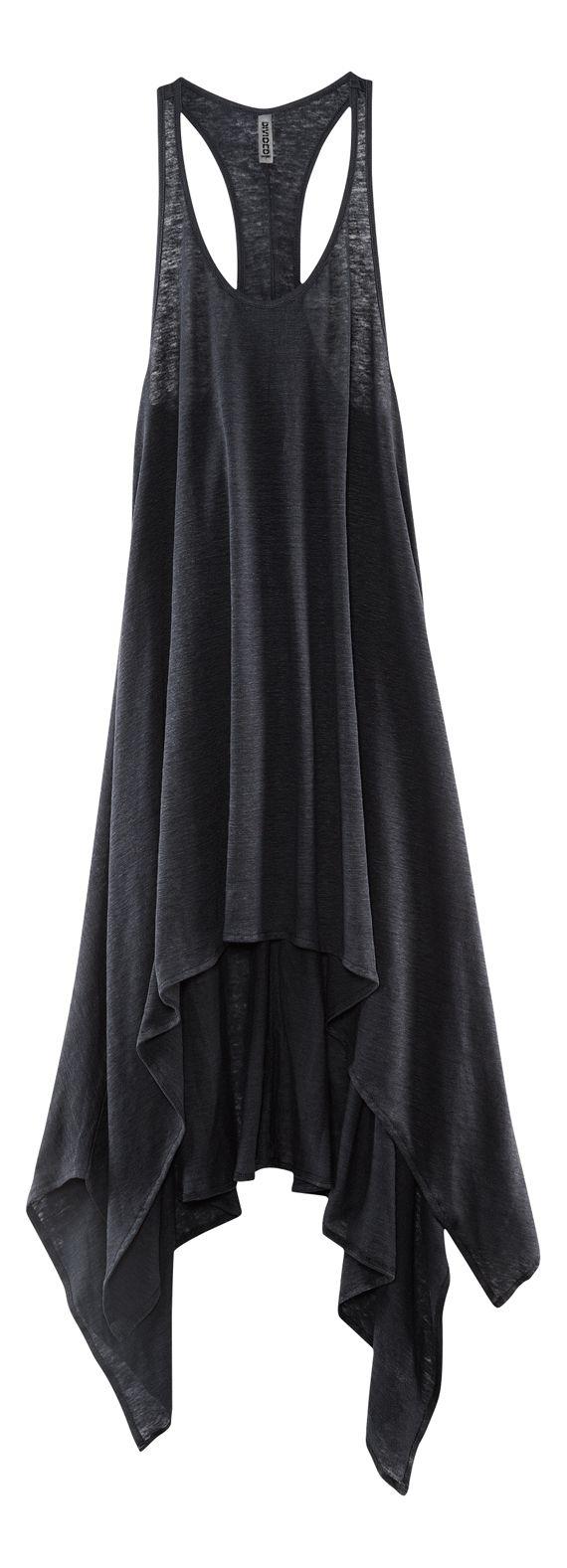 H Divided Grey - assymetrical hem tank dress