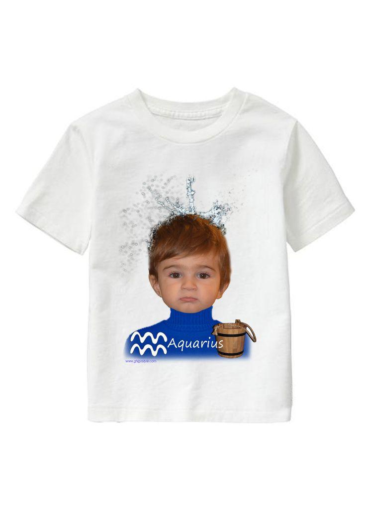 Aquarius Boy personalized T-shirt www.ghigostyle.com