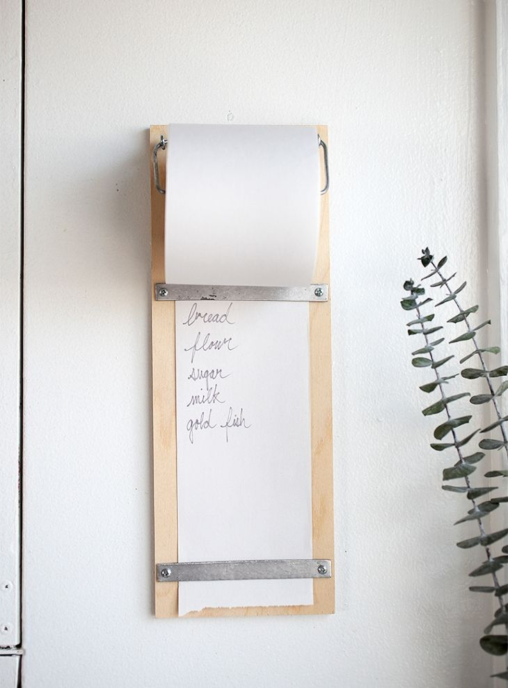 Need a convenient place in your kitchen to keep a list? Whether it's for a grocery list, meal plan, or a calendar, everyone needs a handy writing pad to keep track of important info and dates! Click for an easy tutorial for a DIY wooden list pad that will always be where you need it!