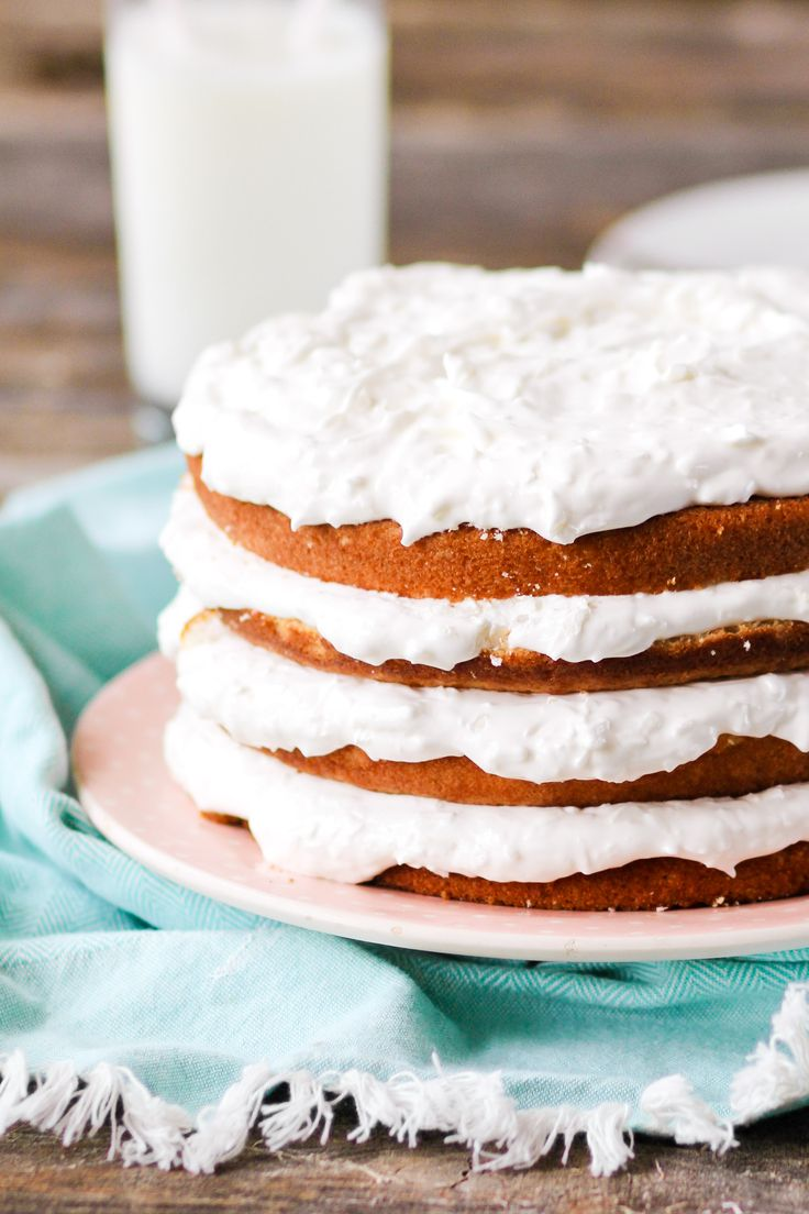Easy Coconut Refrigerator Cake - Confessions of a Cookbook Queen