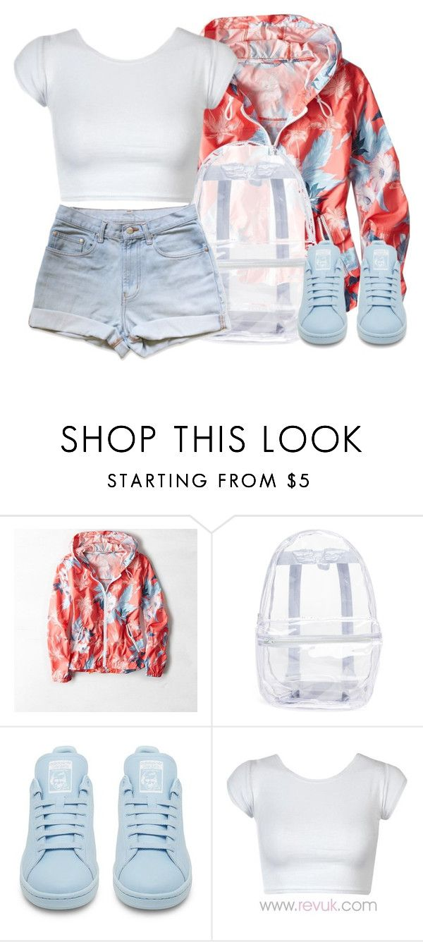""""" by justice-ellis ❤ liked on Polyvore featuring American Eagle Outfitters, Topshop and adidas"
