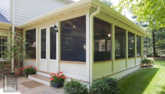 screened in porch plans to build or modify porch window and house