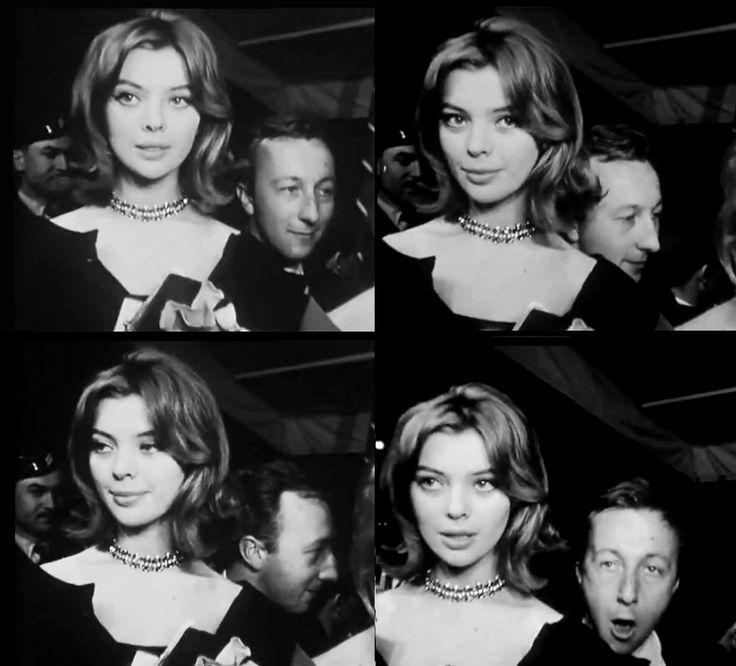 "Barbara Kwiatkowska (Lass) & Bogumił Kobiela promoting ""Bad Luck"" dir. by Andrzej Munk (the assistant director was Roman Polanski), Cannes Film Festival 1960"