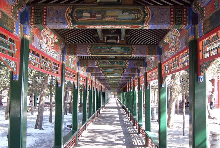 The Summer Palace corridor, Beijing, China