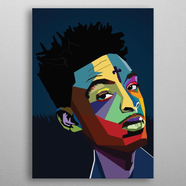 21 savage rapper poster by nguyen dinh