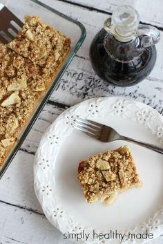 Baked Apple Cinnamon Oatmeal - Simply Healthy Made