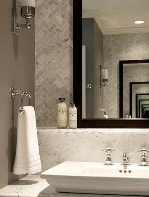 gray herringbone tile - for kitchen backsplash (and maybe entry floor?)