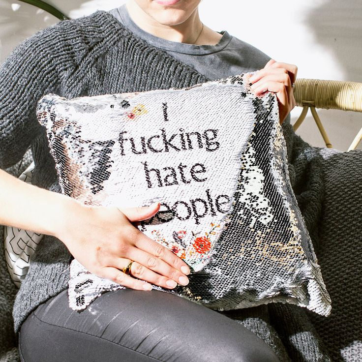Give your soft-furnishings a subversive and sequin-coated makeover with the Personalised Hidden Message Cushion. These sparkly and stylish cushions conceal your