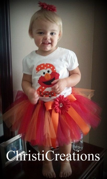 Dress...Madison would LOVE this!!! I may need to do this for her 2nd Birthday since she LOVES Elmo!