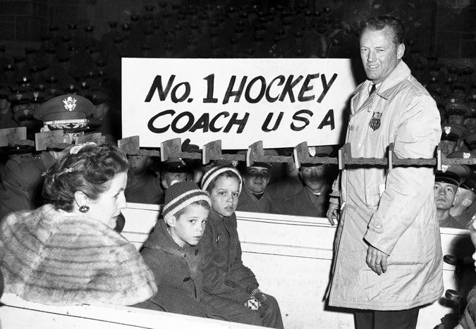 Jack Riley, U.S. Coach of 1960 Gold Medal Hockey Team, Dies at 95 - The New York Times