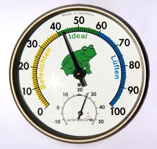 Präzisions-Hygrometer Haar-Synthetik Klimafrosch