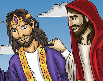 "Check out new work on my @Behance portfolio: ""Rey David conversando con Jesús"" http://on.be.net/1VVN1Pt"