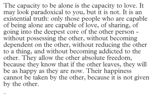 the capacity to be alone as Anxiety, solitary self, ability to be alone and necessity of being alone, as well as  the companionable nature of solitude finally, conclusions and future directions.
