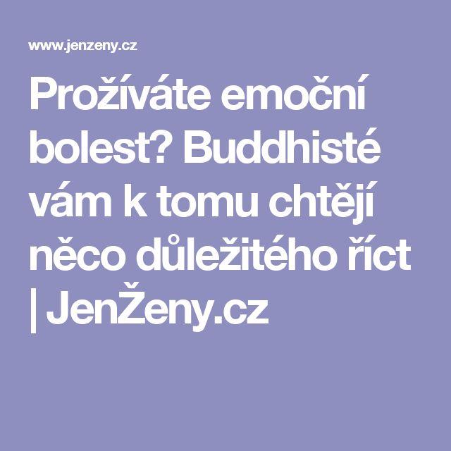 Prožíváte emoční bolest? Buddhisté vám k tomu chtějí něco důležitého říct | JenŽeny.cz