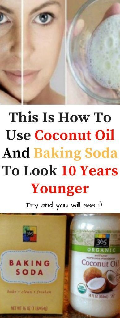 Say hello to this natural facial cleanser with coconut oil and baking soda, and say goodbye to wrinkles and sagging facial skin!