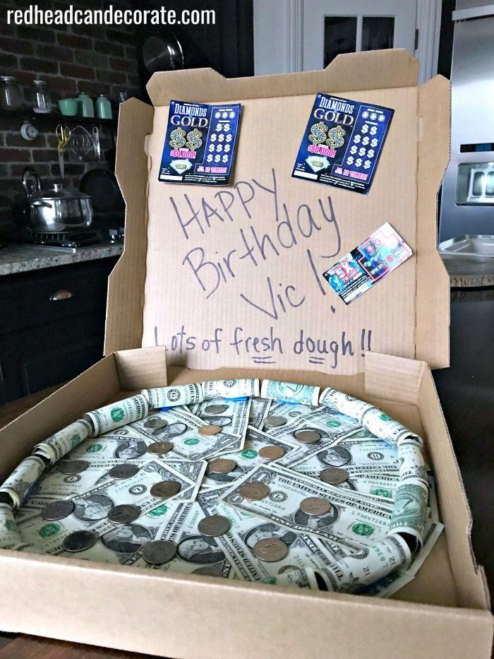 Money Pizza Pie Gift