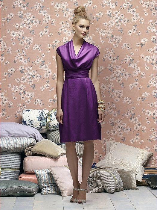 Vestido Modesto - ROXO -  Bridesmaid Dress