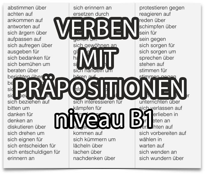 Deutschc lernen : verben mit präposition + Akk