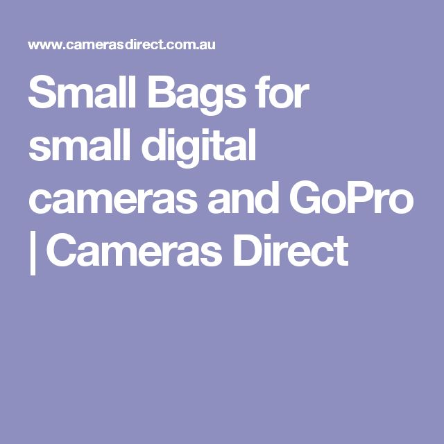 Small Bags for small digital cameras and GoPro | Cameras Direct