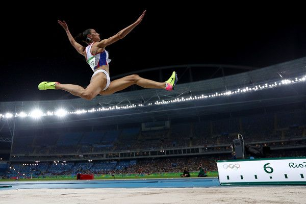 Ivana Spanovic of Serbia competes in the Women's Long Jump final on Day 12 of the Rio 2016 Olympic Games at the Olympic Stadium on August 17, 2016 in Rio de Janeiro, Brazil.