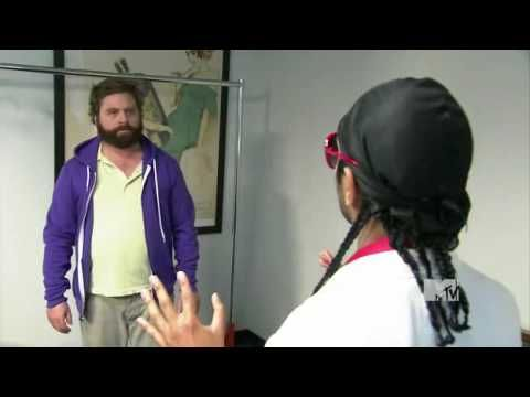"Aziz Ansari Teaches Zach Galifianakis (Alan From ""The Hangover"") About Swag"