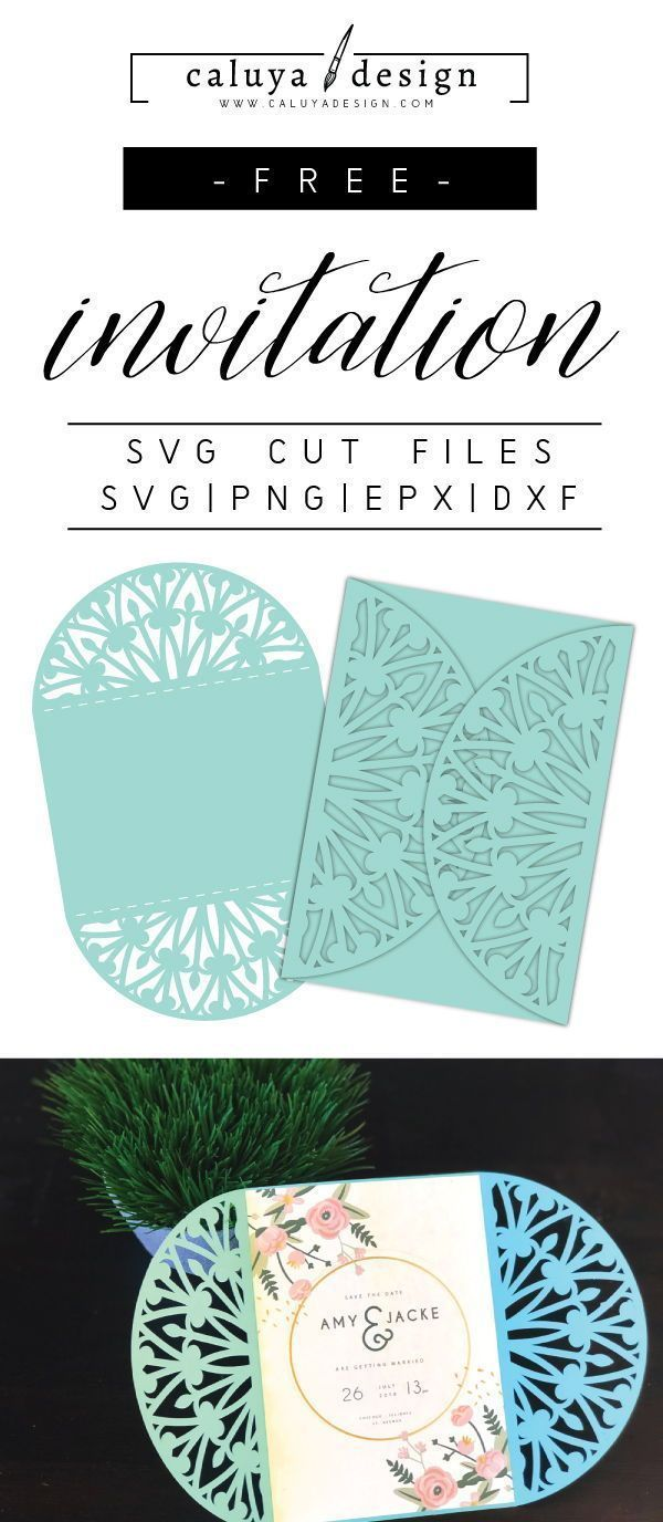 Free 7x5 Invitation Card Svg Png Eps Dxf By