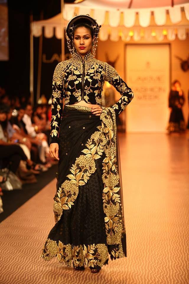 Shantanu Goenka black Sari