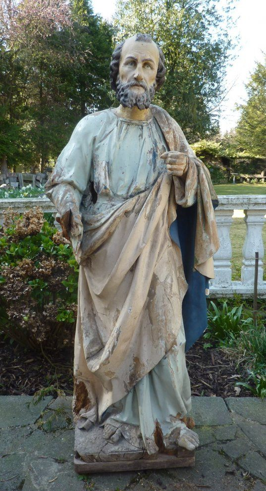 Paul Saint Large Carved Wooden Statue - My Store