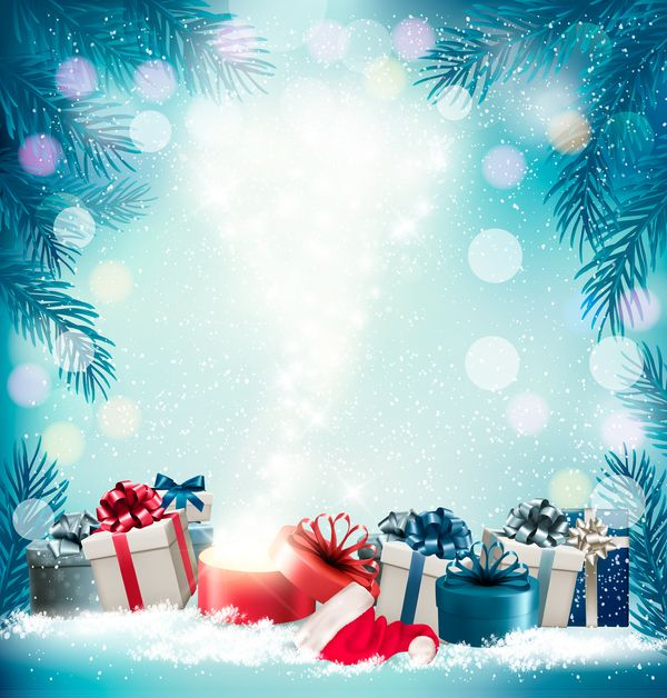 Free Eps File Christmas Background With Presents And Gift Card Vector 03 Download Name Christmas Ba Christmas Background Holiday Background Christmas Vectors