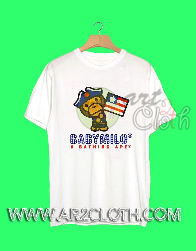 Chris Brown in Bape American Independence Day T Shirt //Price: $12 //     #Trendfashion