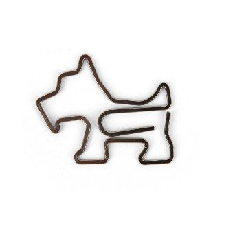 Scottie Dog Paper Clips, Set of 6