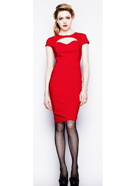 Sandy Pencil [red] Dress