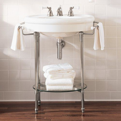 American standard standard collection console for Pedestal sink with metal legs