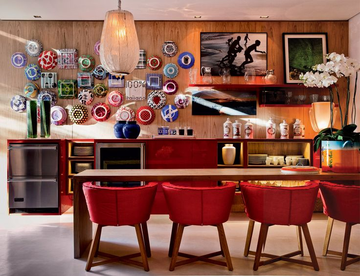 Red Dining Room Accessories: 149 Best Images About Estantes E Paredes (quadros) On