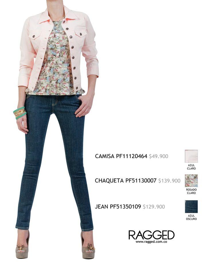 jean y chaqueta de color