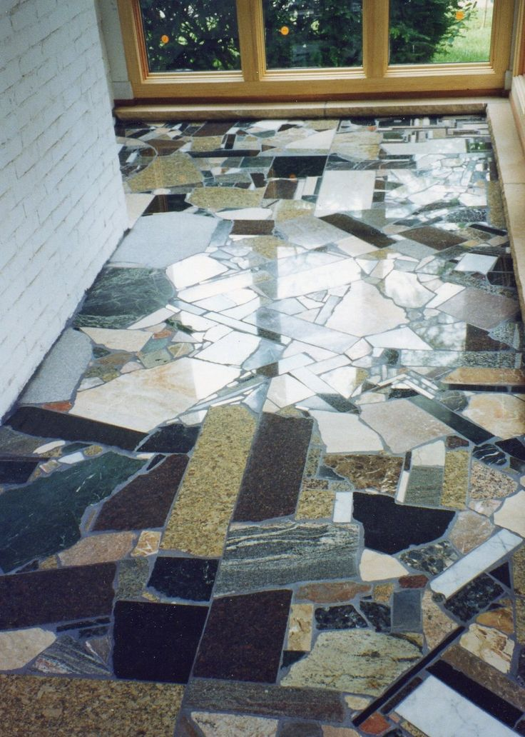 64 best granite scrap ideas images on pinterest granite for Unusual inexpensive flooring ideas
