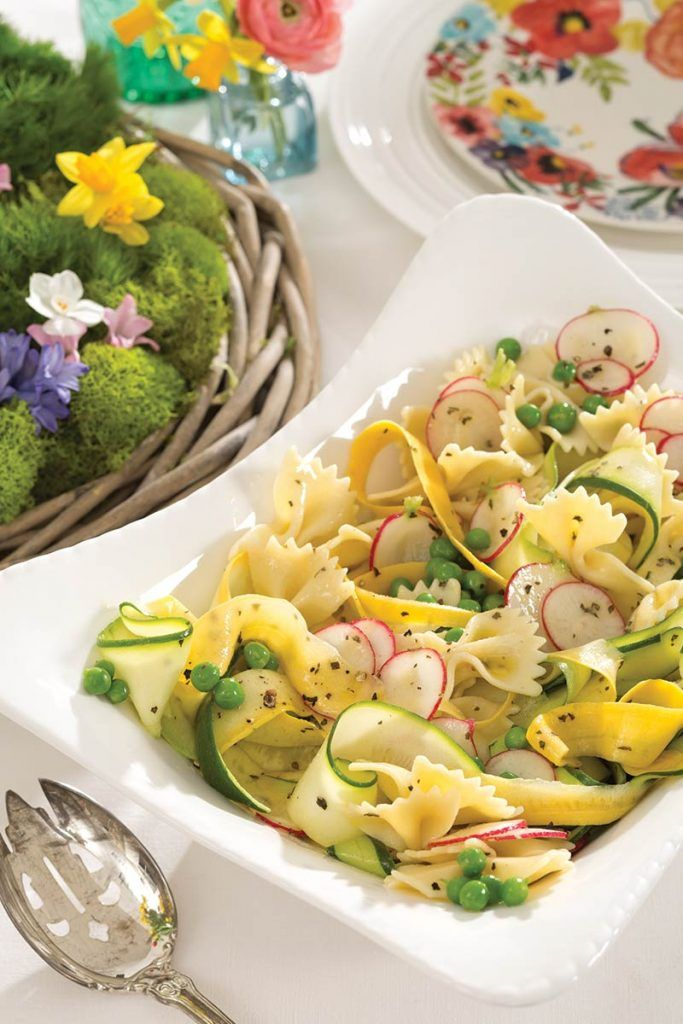 Mothers Day Picnic Menu - The Cottage Journal - Lemony Farfalle and Squash Salad