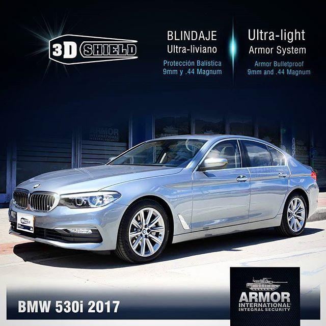 BMW 530i / Blindado con 3D-Shield exclusivo de Armor International. Bulletproof Armoring vehicles.  Luxury armored cars. www.armorinternational.com 📞 (+57)1 360 7166  #armor #armorbmw #bmw530i #blindajes