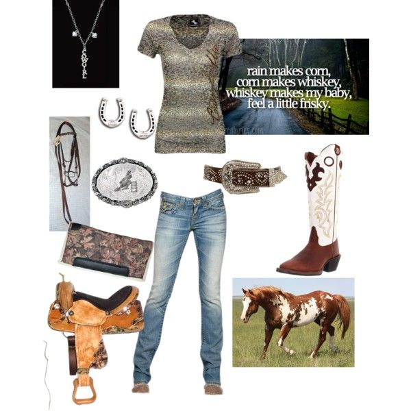 Cowgirl Up 2, created by tanya-cochran-sieh on Polyvore