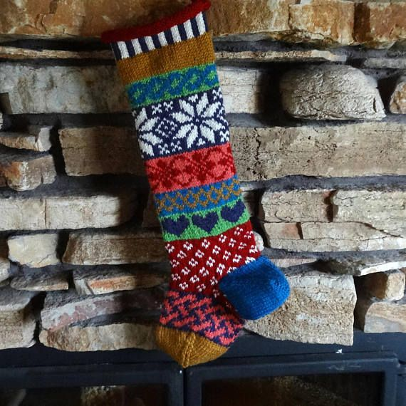336 best Knit Christmas Stockings images on Pinterest | Knitted ...