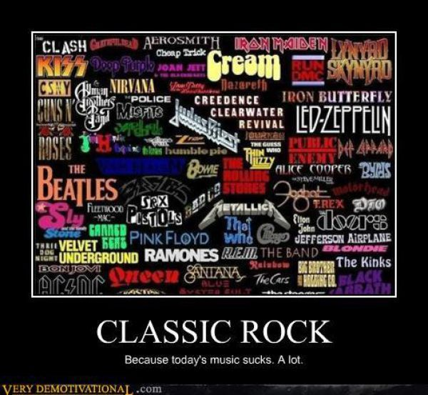 Classic Rock...... Didn't know Nirvana was classic rock, but ok :)