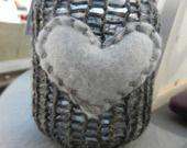 lanterna in vetro e lana grigia con cuore : Lampade di love-affairs