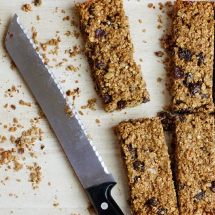Low Fat Chewy Granola Bars with Pecans Raisins and Chocolate Recipe