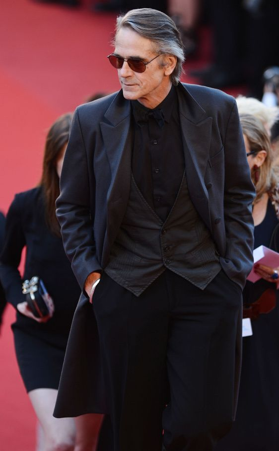 Jeremy Irons in All Black.